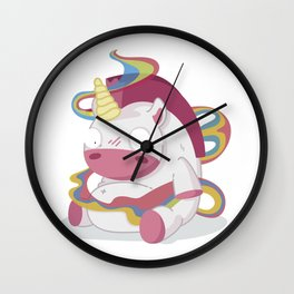 May your day be more beautiful than a unicorn farting rainbows Wall Clock