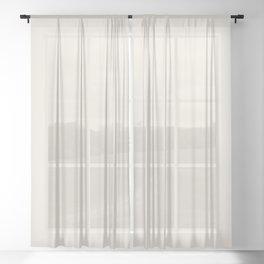 Off White - Talc Sheer Curtain