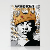 kendrick lamar Stationery Cards featuring King Kendrick - Overly Dedicated by Gagegfx