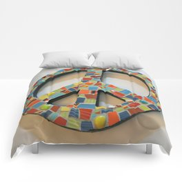 Fiesta Peace Sign Comforters