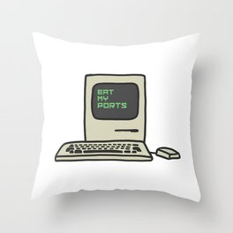 Computer Trash Talk Throw Pillow