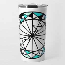 Sapphire blue diamond - circle Travel Mug