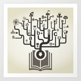 Industry the book Art Print