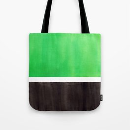 Abstract Midcentury Modern Minimalism Pop Art Colorful Emerald Green Black Squares Rothko Tote Bag