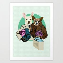 C & Y Shopping Chihuahua  style Art Print