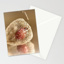 Physalis on gold Stationery Cards