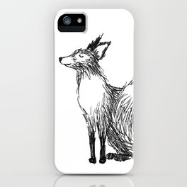 Little smiling fox iPhone Case