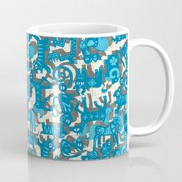chinese animals blue Coffee Mug