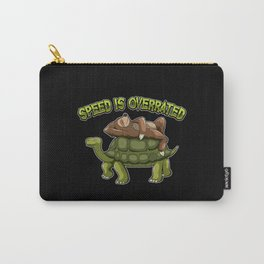 Speed Is Overrated - Sloth Rides A Turtle Carry-All Pouch