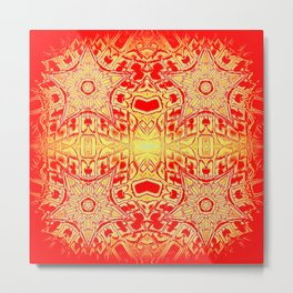 Red & Gold Stars Metal Print