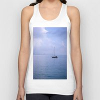 sailboat Tank Tops featuring Sailboat by lennyfdzz