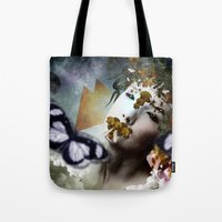 michael scott Tote Bags featuring Michael by DIVIDUS