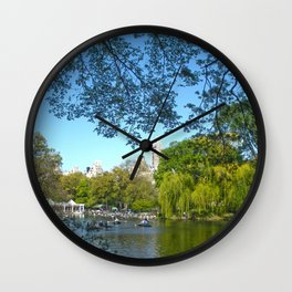 The boathouse at Central Park - NYC Wall Clock