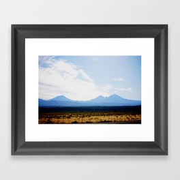 Out West, Three Sisters Framed Art Print