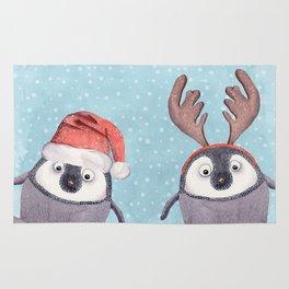 CHRISTMAS PENGUINS Rug