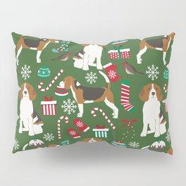 Beagle christmas dog print cute beagle christmas print love beagles Pillow Sham