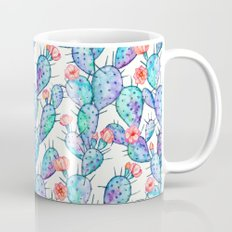 Rainbow Watercolor Cactus Pattern Mug