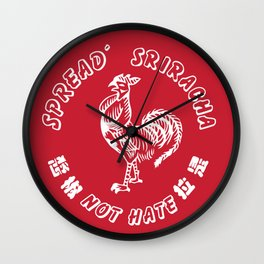 spread sriracha Wall Clock