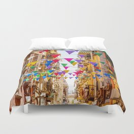 Naples, Italy Duvet Cover