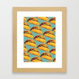 Taco Pattern Framed Art Print