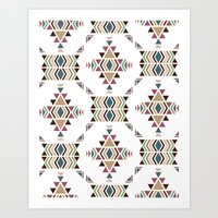 navajo Art Prints featuring Navajo  by CrystalFairy
