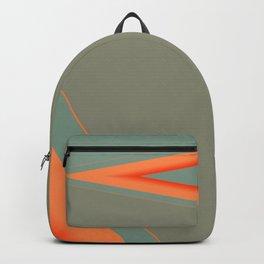 Army Green Orange Stripe Backpack