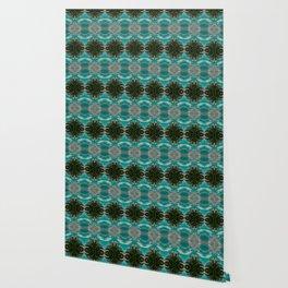 Palms on Turquoise - II Wallpaper
