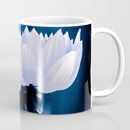 Fresh White Petals On Blue Coffee Mug