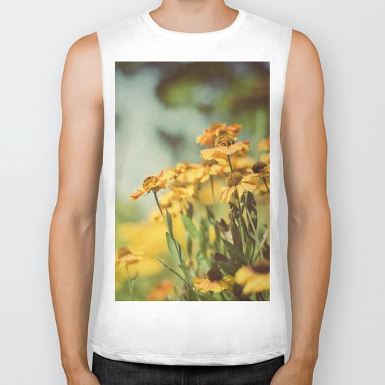 Fall Flowers Biker Tank