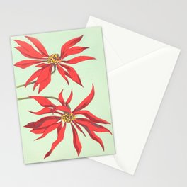 Joanne's Red Flowers Stationery Cards