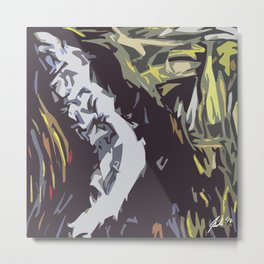 Face in the dark (2012) Metal Print