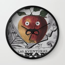 mr manzana Wall Clock