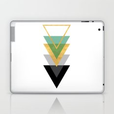 FIVE GEOMETRIC ABSTRACT HOLLOW PYRAMIDS TRIANGLE Laptop & iPad Skin