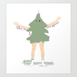 Xmas Tree Guy (Nils) Art Print