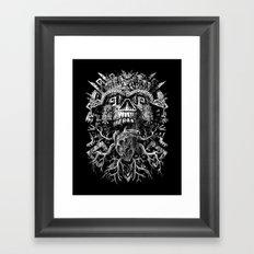 Aztec Skull Framed Art Print