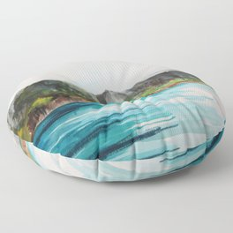 Napali Coast Dreaming Floor Pillow