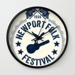 1959 Newport Folk Festival Emblem Poster Wall Clock