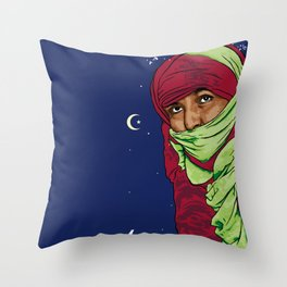 SAHARA LIBRE Throw Pillow