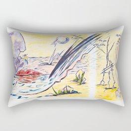X voYages de Zed (toile 14 - série 1) Rectangular Pillow