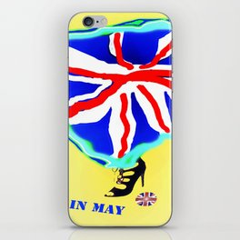 May in May (trouble in politics - Brexit) - shoes stories iPhone Skin