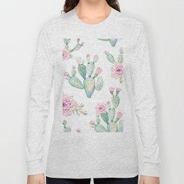Simply Cactus Rose Long Sleeve T-shirt