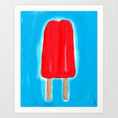 Ice Pops and Pool Time Art Print