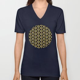 Golden Honeycomb Unisex V-Neck