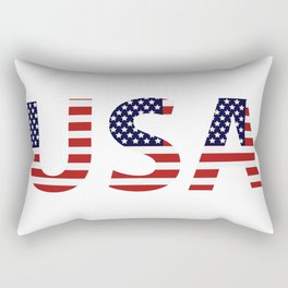 word United States of America Rectangular Pillow