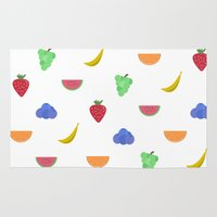 fruit Area & Throw Rugs featuring Fruit by brittcorry