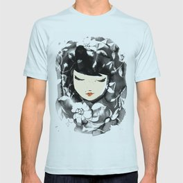 Ink Flower Girl T-shirt
