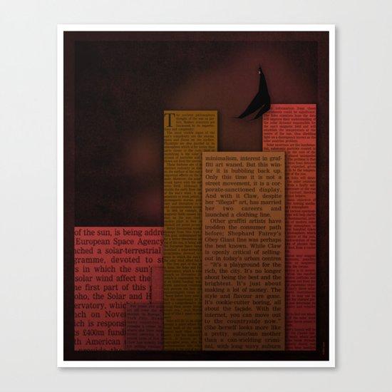 PAPER HEROES - Gotham Canvas Print