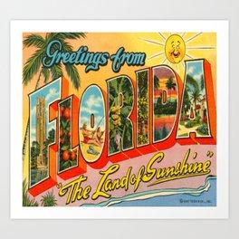 Greetings From Florida Art Print