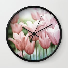 Lovely Tulips Wall Clock