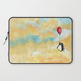 Penguin and a Red Balloon Laptop Sleeve